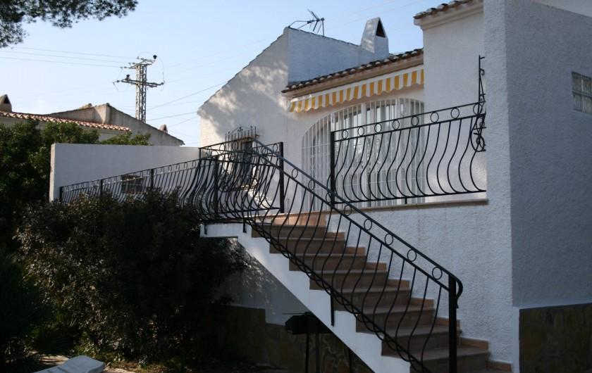 Location de vacances - Villa à Xàbia - grande terrasse
