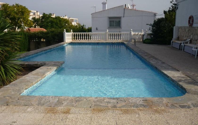 Location de vacances - Appartement à Alicante - Piscine privative, ouverte toute l'année, accès sécurisé.