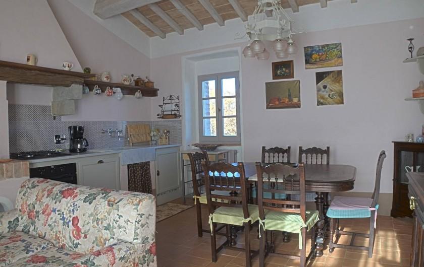 Location de vacances - Mas à Montepulciano - Cucina soggiorno