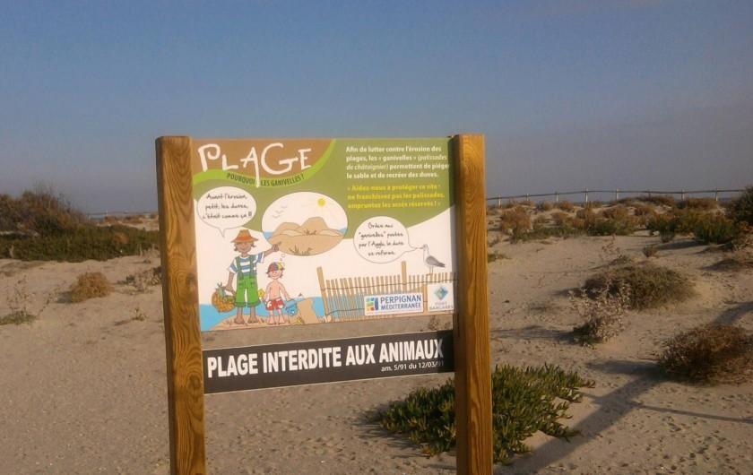 Location de vacances - Villa à Le Barcarès - Plage protégée