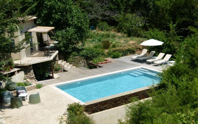 Location de vacances - Chambre d'hôtes à La Garde-Freinet - vue  du cabanon