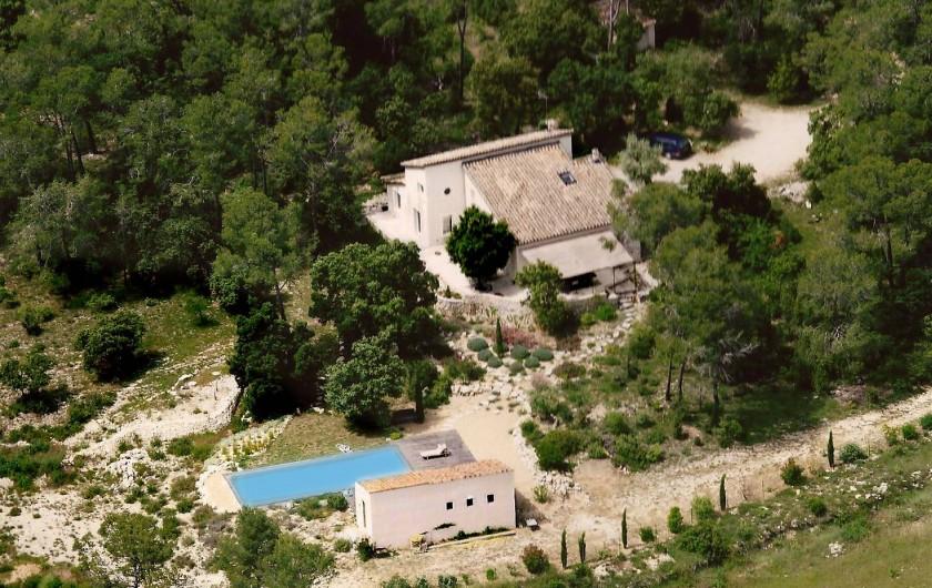 Location de vacances - Villa à Valflaunès - Vue aérienne
