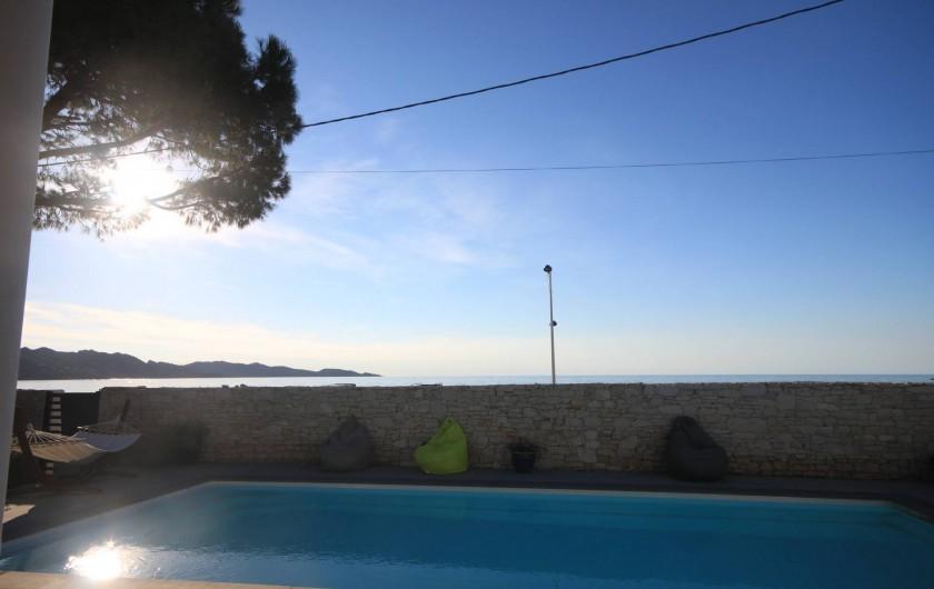 Location de vacances - Appartement à Saint-Florent - Vue mer.