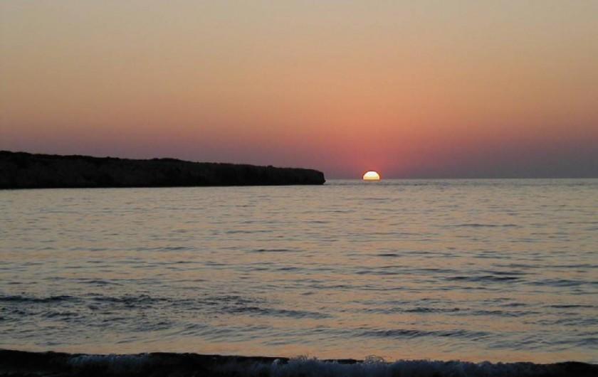 Location de vacances - Appartement à Kato Paphos - Coucher de soleil à Lara