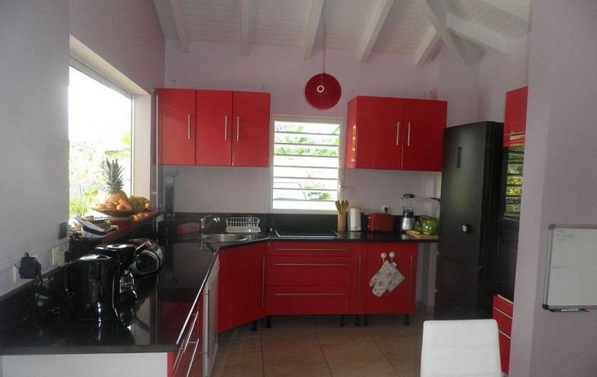 Location de vacances - Villa à Capesterre Belle Eau - cuisine ouverte