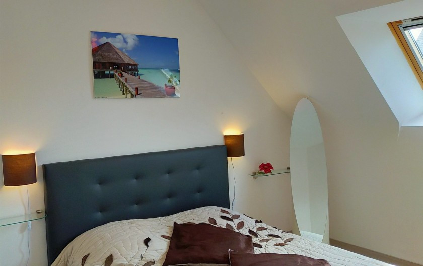 Location de vacances - Maison - Villa à Plouharnel - chambre 2 lits 90 commode