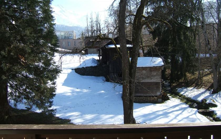 Location de vacances - Appartement à Saint-Gervais-les-Bains - Vue de la terrasse