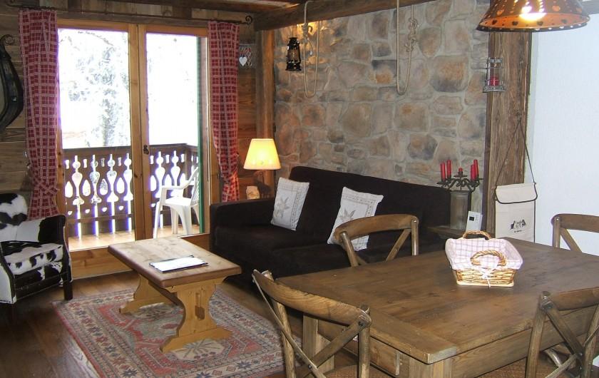 Location de vacances - Appartement à Saint-Gervais-les-Bains - Salon