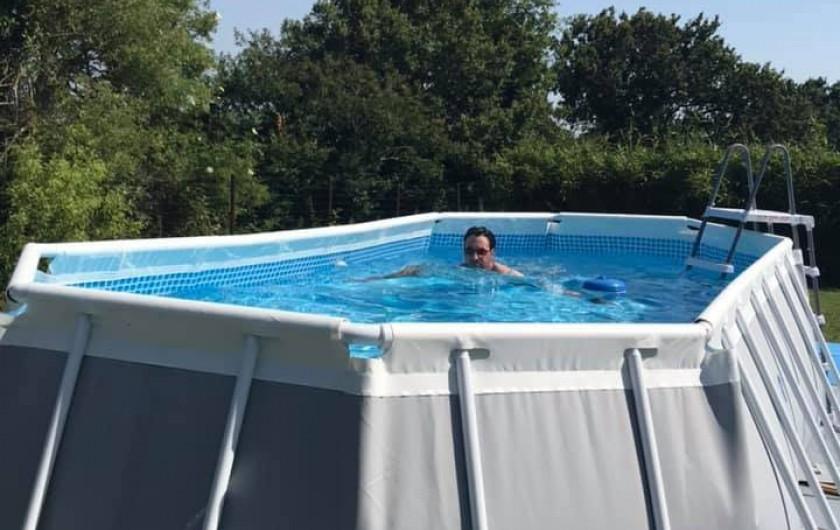 Location de vacances - Maison - Villa à Nivillac - Piscine hors sol pendant le saison.