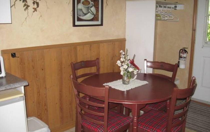 Location de vacances - Chalet à Shawinigan - 4510- intérieur chalet 1 chambre