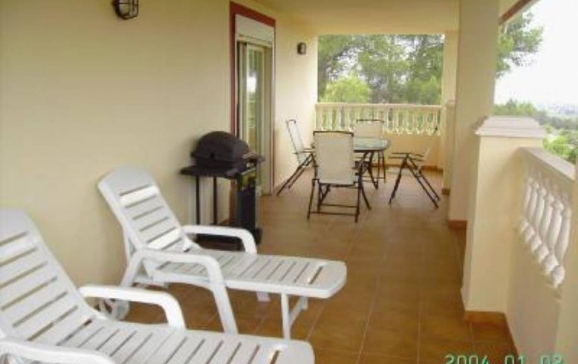 Location de vacances - Appartement à Carcaixent - Terrasse privée vue 1