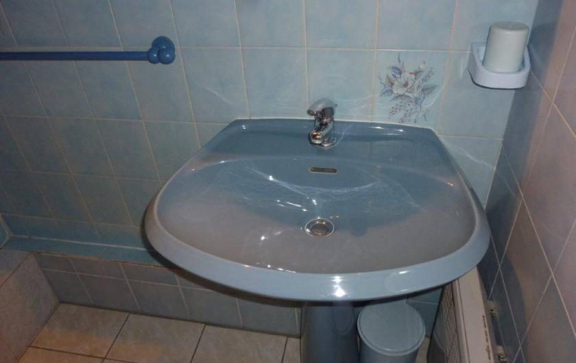 Location de vacances - Appartement à Saint-Sorlin-d'Arves - Lavabo,  lave linge. Les WC sont indépendants