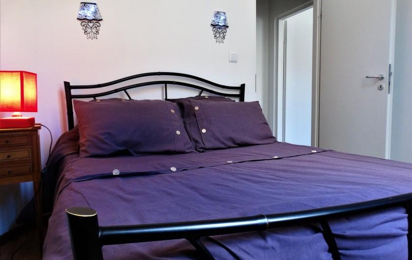 Location de vacances - Appartement à Saumur - chambre 1 avec un lit double