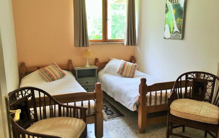 Location de vacances - Gîte à Branoux-les-Taillades - Les Pins; chambre deux persons