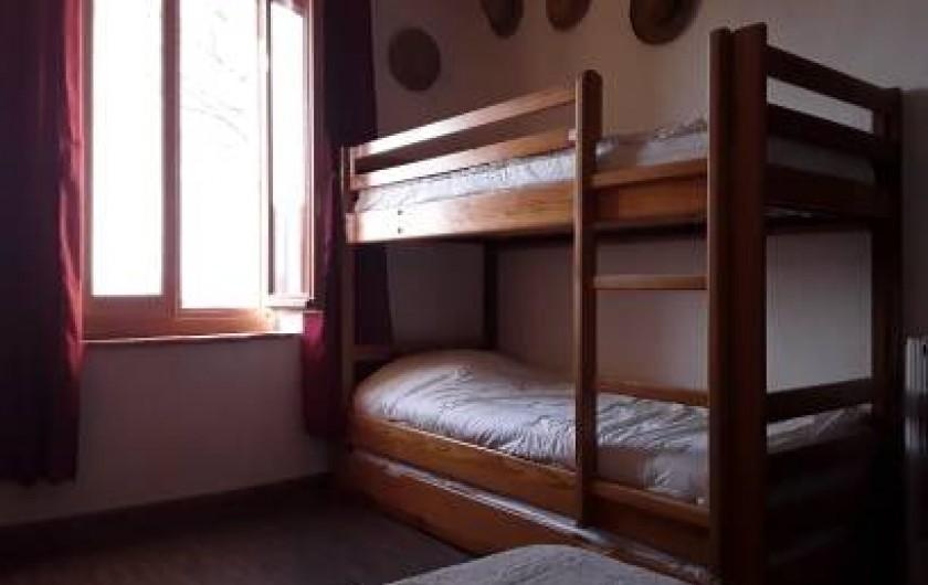 Location de vacances - Mas à Saint-Victor-la-Coste - Chambre haut enfant