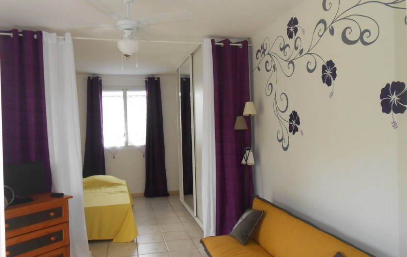Location de vacances - Appartement à Les Trois-Îlets - Grande pièce de vie