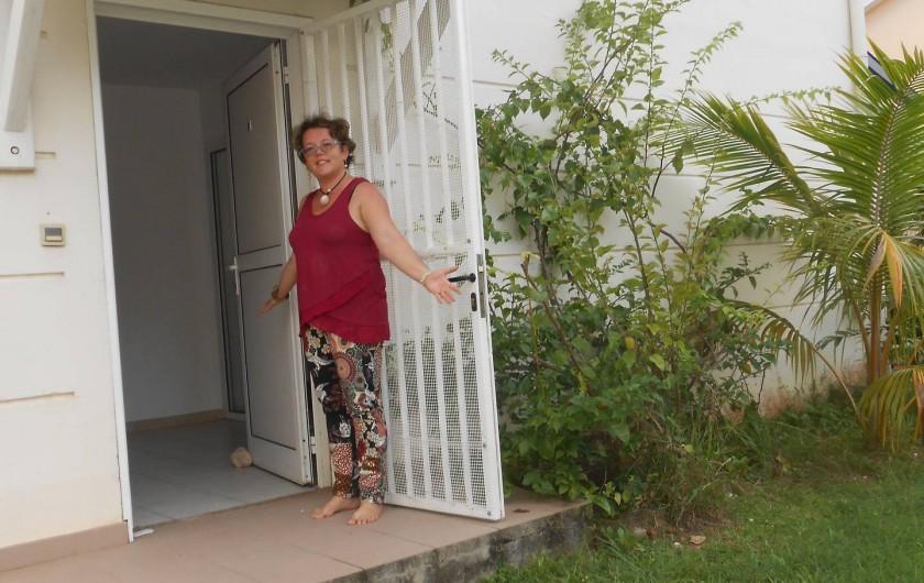 Location de vacances - Appartement à Les Trois-Îlets - Bienvenue! Accès par le jardin