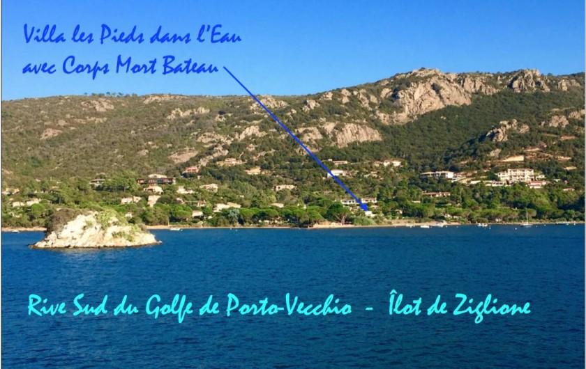 Location de vacances - Villa à Porto-Vecchio - Situation de la Villa