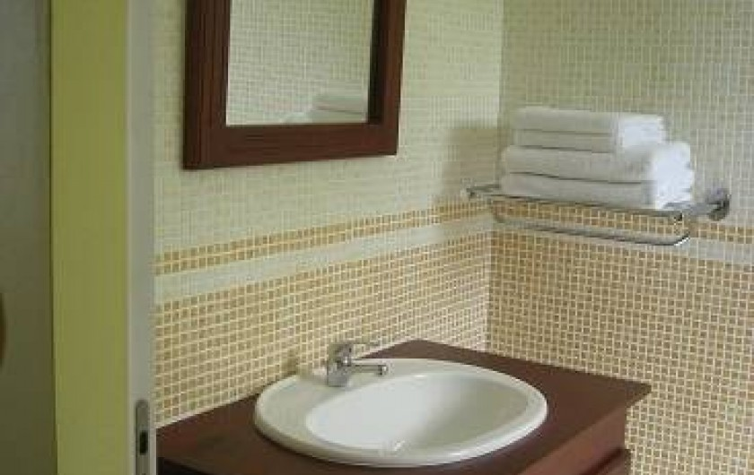 Location de vacances - Bungalow - Mobilhome à Deshaies - Salle de bain du gite Havane
