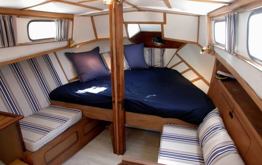 Location de vacances - Chambre d'hôtes à Saint-Geniès-de-Comolas - Cabine du bateau