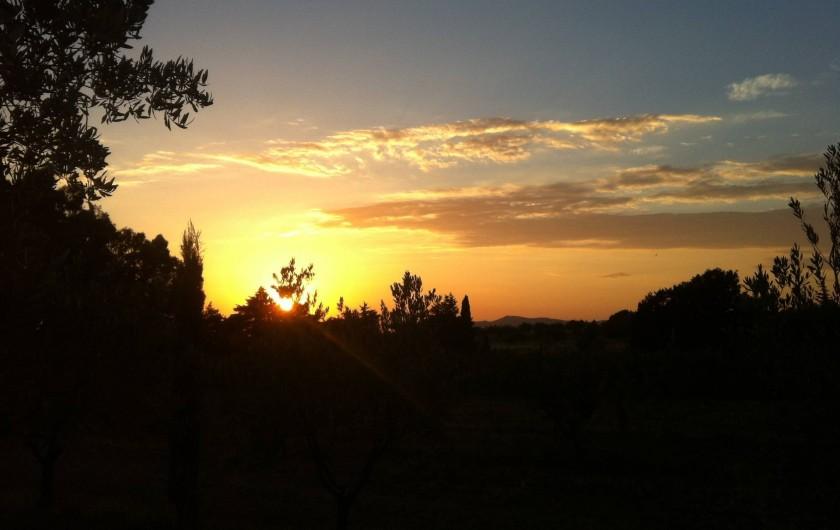 Location de vacances - Appartement à Cecina - Coucher de soleil pres de Civetta et Tasso