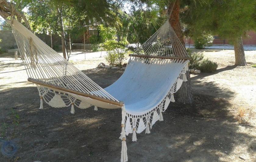 Location de vacances - Villa à Monòver - Hamac dans le jardin