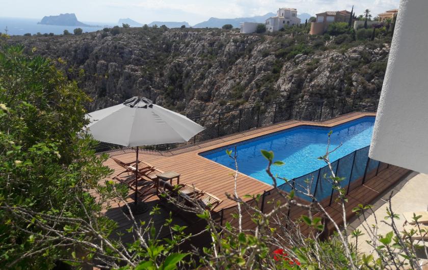 Location de vacances - Villa à El Poble Nou de Benitatxell - Vue Est Piscine