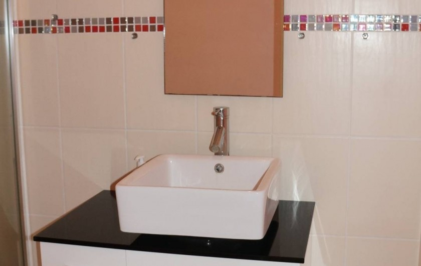 Location de vacances - Studio à Le Vauclin - Résidence Macabou - Salle de bain avec lavabo, douche et WC