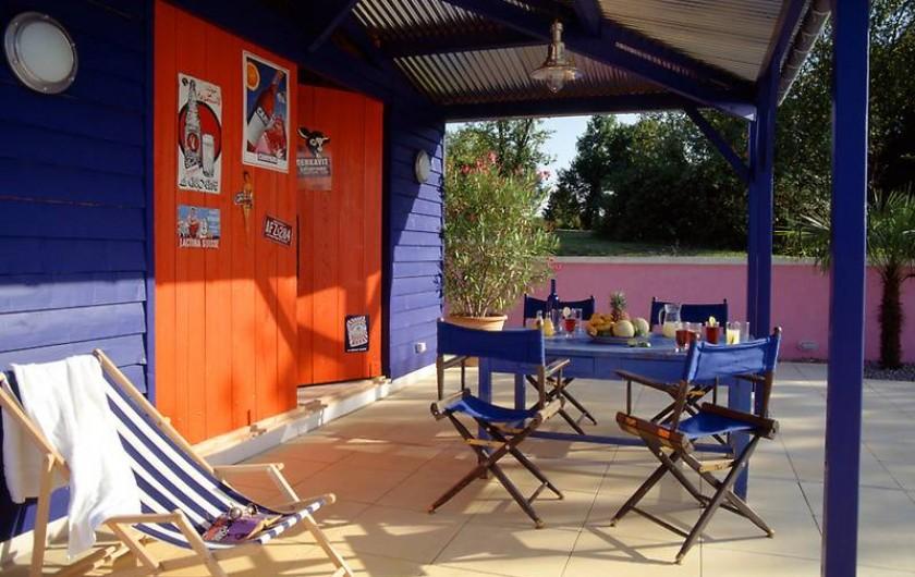 Location de vacances - Mas à Lusignac - poolhouse