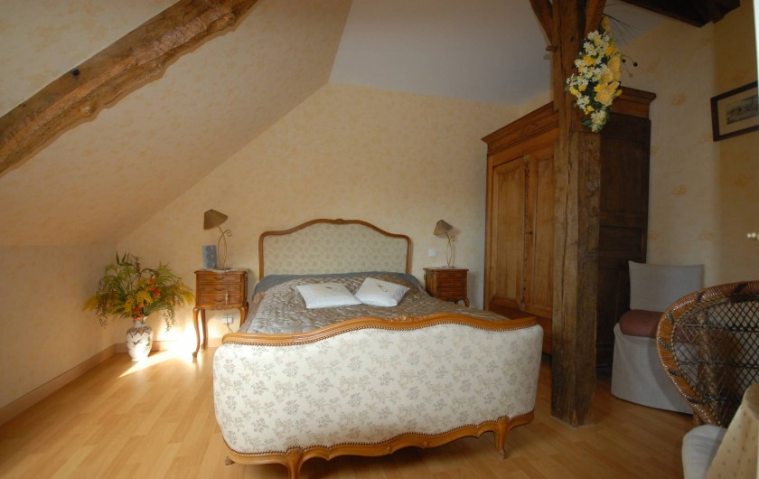 Location de vacances - Chambre d'hôtes à Melrand - Chambre Mimosa - 2nd étage