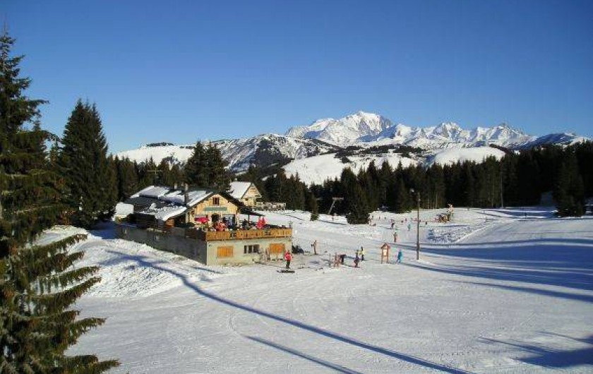 Location de vacances - Appartement à Crest-Voland - La vue sur le Mont Blanc depuis le sommet du Lachat (télésiège direct )