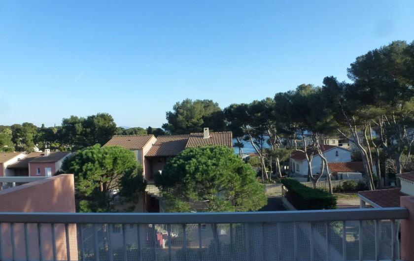 Location de vacances - Appartement à Carry-le-Rouet - Vue de la terrasse