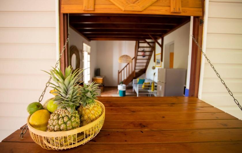 Location de vacances - Villa à Sainte-Anne - Chambre de la VILLA labellisée Tourisme et Handicaps