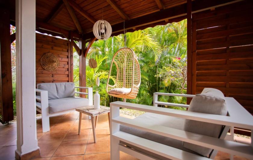 Location de vacances - Villa à Sainte-Anne - salon des villas F4 (3 chambres)