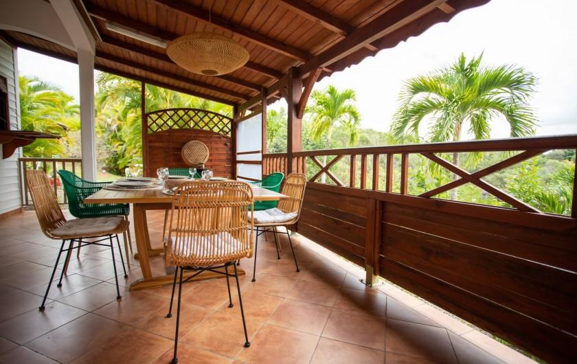 Location de vacances - Villa à Sainte-Anne - TERRASSE PIPIRIT VUE PANORAMIQUE