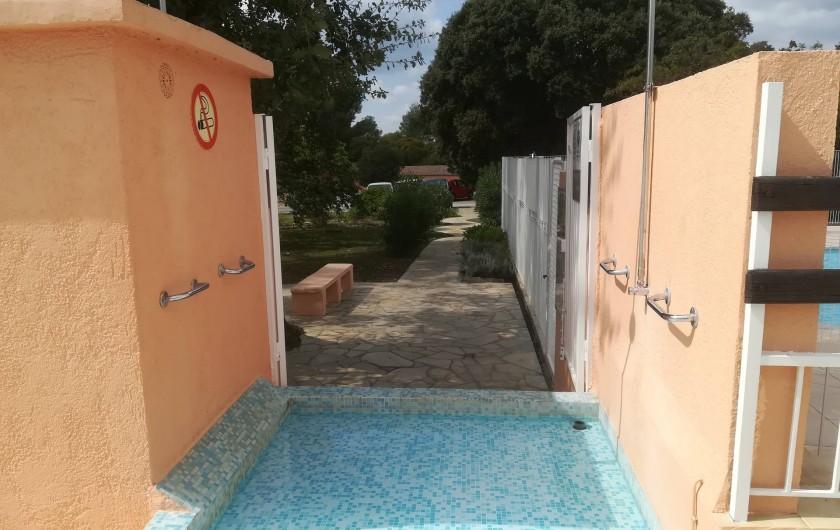 Location de vacances - Mas à Grasse - Entrée de la piscine...