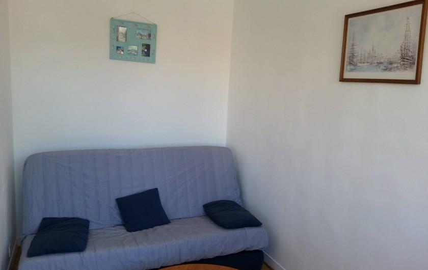 Location de vacances - Studio à Fécamp - Coin salon avec clic clac