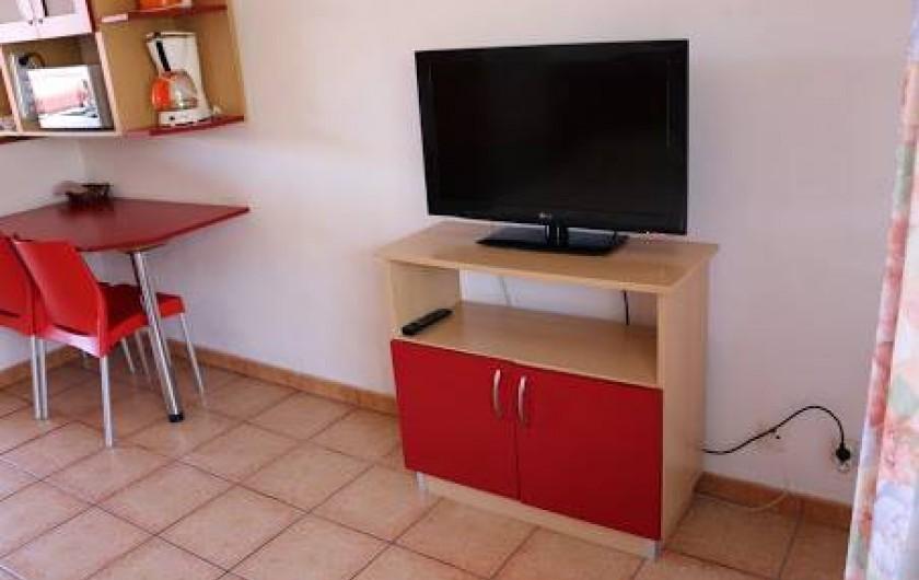 Location de vacances - Villa à Cilaos - Tv écran plat