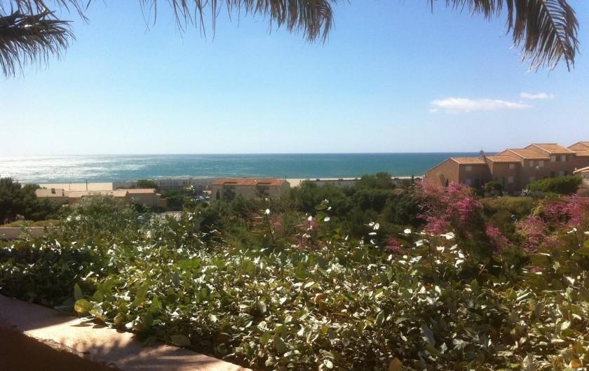 Location de vacances - Appartement à Saint-Pierre la Mer - Vue de la piscine