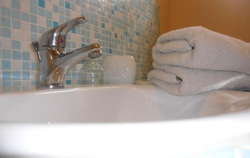 Location de vacances - Chambre d'hôtes à Les Loges - Salle d'eau de la chambre d'Antan