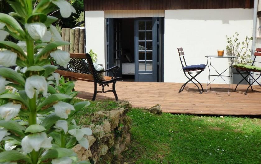 Location de vacances - Chambre d'hôtes à Douville - terrasse privée chambre 4