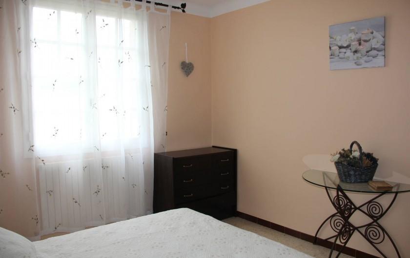 Location de vacances - Villa à Mazan - chambre N°1 à l'étage vue sur le Mont Ventoux