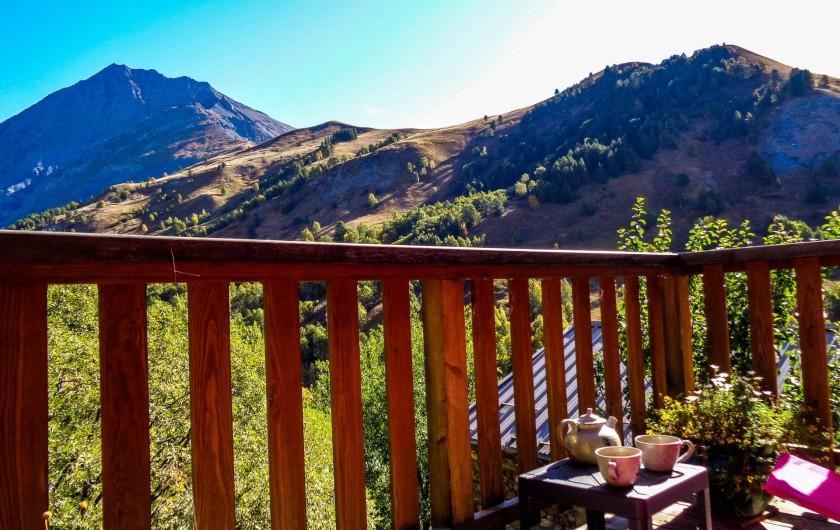 Location de vacances - Maison - Villa à La Grave - La terrasse au soleil levant