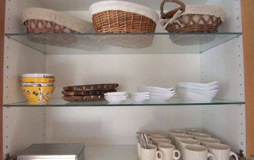 Location de vacances - Villa à Bouillargues - Grand choix de vaisselles