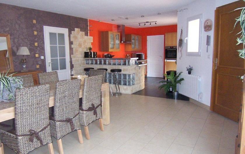 Location de vacances - Villa à Bouillargues - Cuisine, salle a manger et salon dans la même pièce