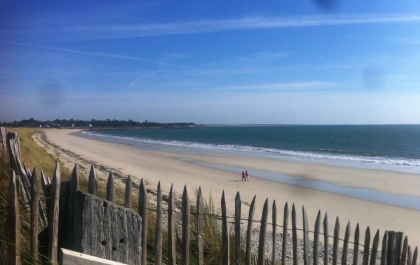 Location de vacances - Mas à Sainte-Marine - La plage: 3 kms de sable entre les petits ports de Ste Marine et Ile Tudy