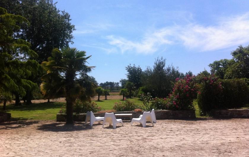 Location de vacances - Mas à Sainte-Marine - La vue de la maison vers dune ( vers la dune dans le fond)