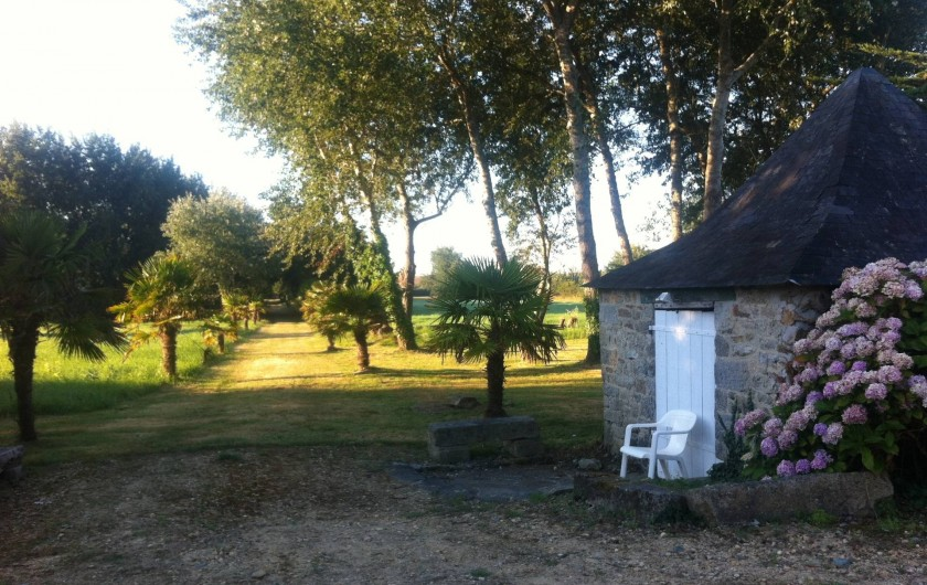 Location de vacances - Mas à Sainte-Marine - Chemin d'accès privé à la plage