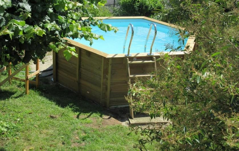 Location de vacances - Gîte à Fauch - piscine dans le jardin