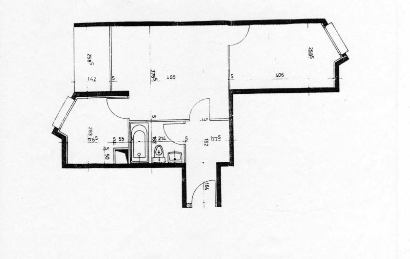 Location de vacances - Appartement à Malo-les-Bains - Plan de l'appartement
